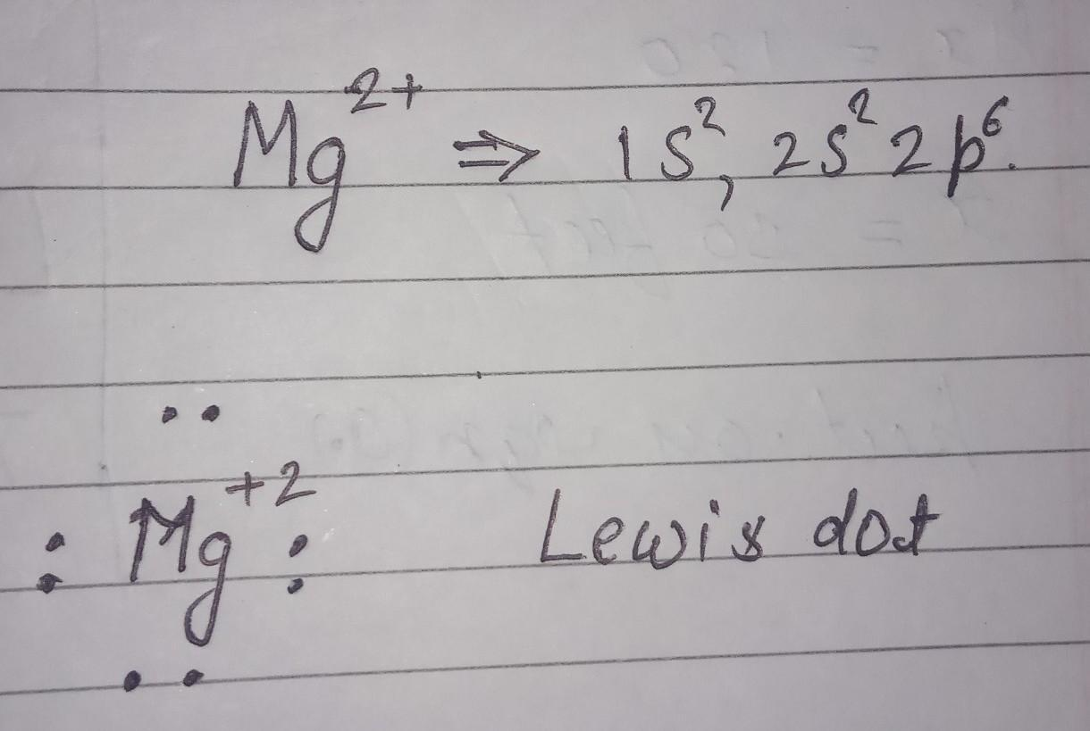 Write Lewis Dot Structure Of Mg2