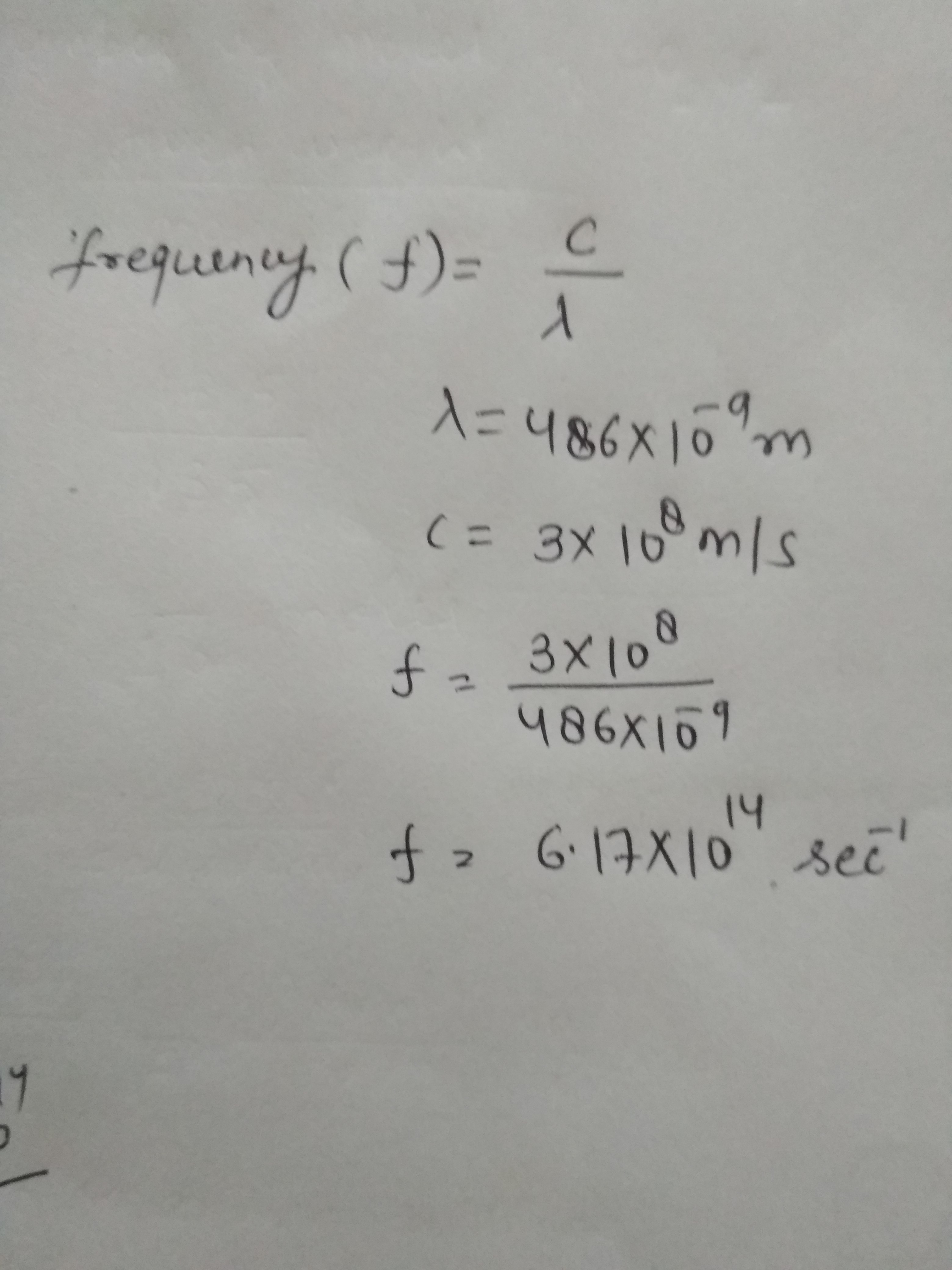 Calculate The Frequency Of Green Light Whose Wavelength Is