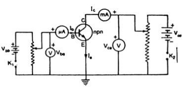 Draw a labelled circuit diagram of npn germanium