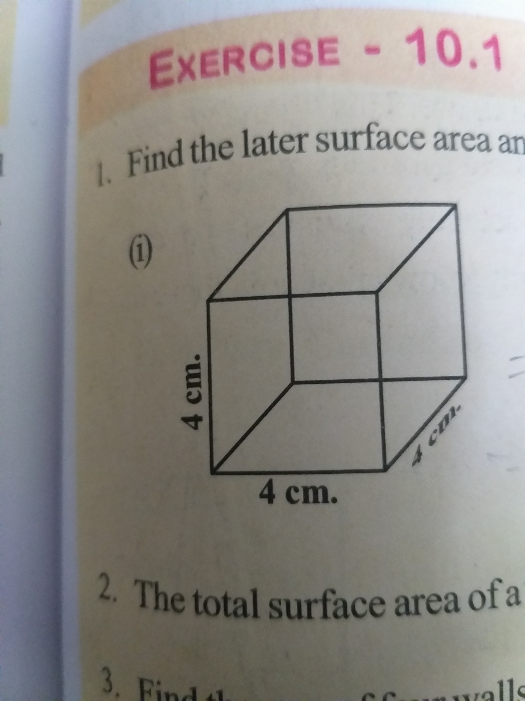 Find The Lateral Surface Area And Total Surface Area Of
