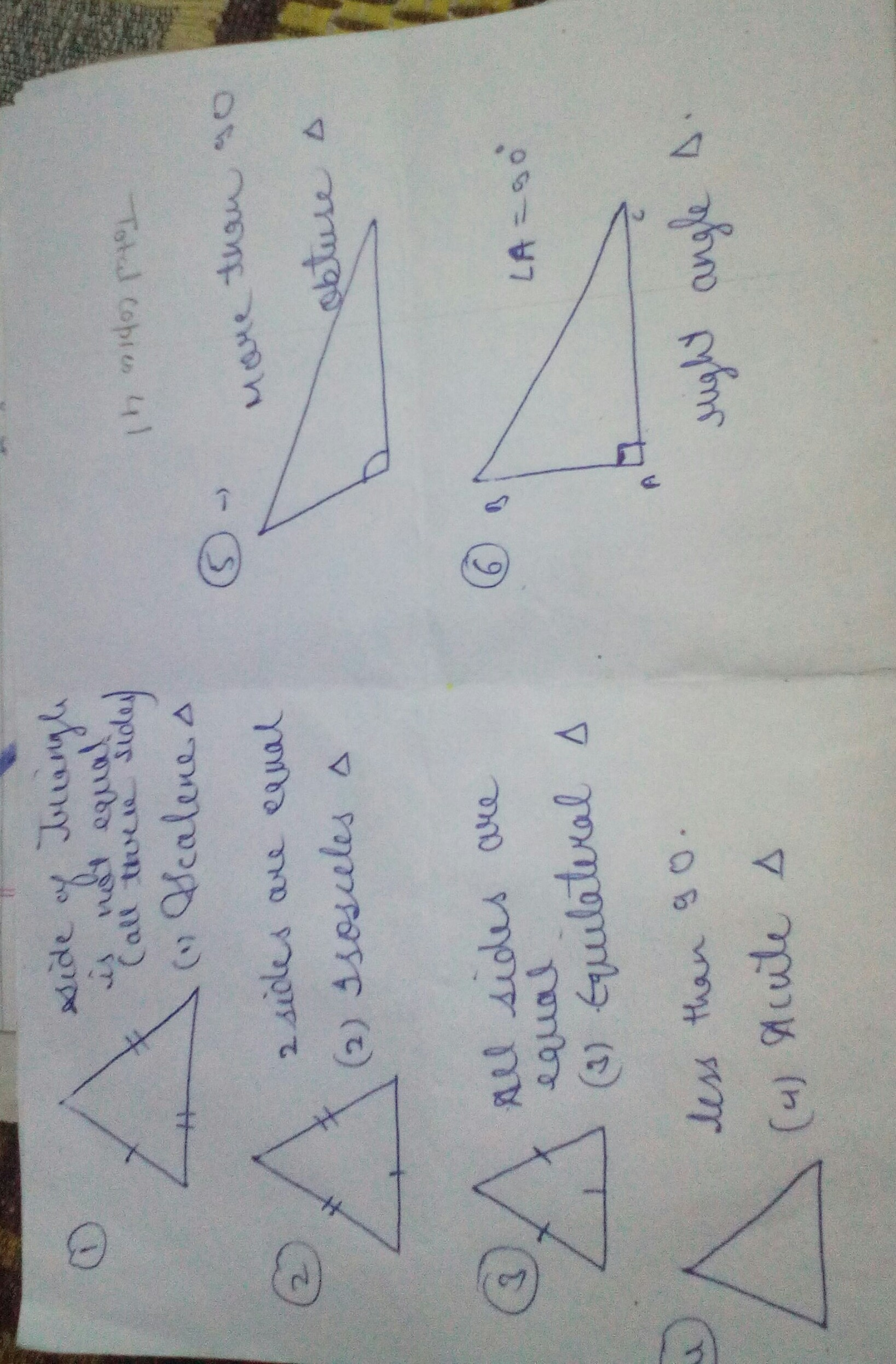 Construct These Triangles 1 Scalene 2 Isosceles 3