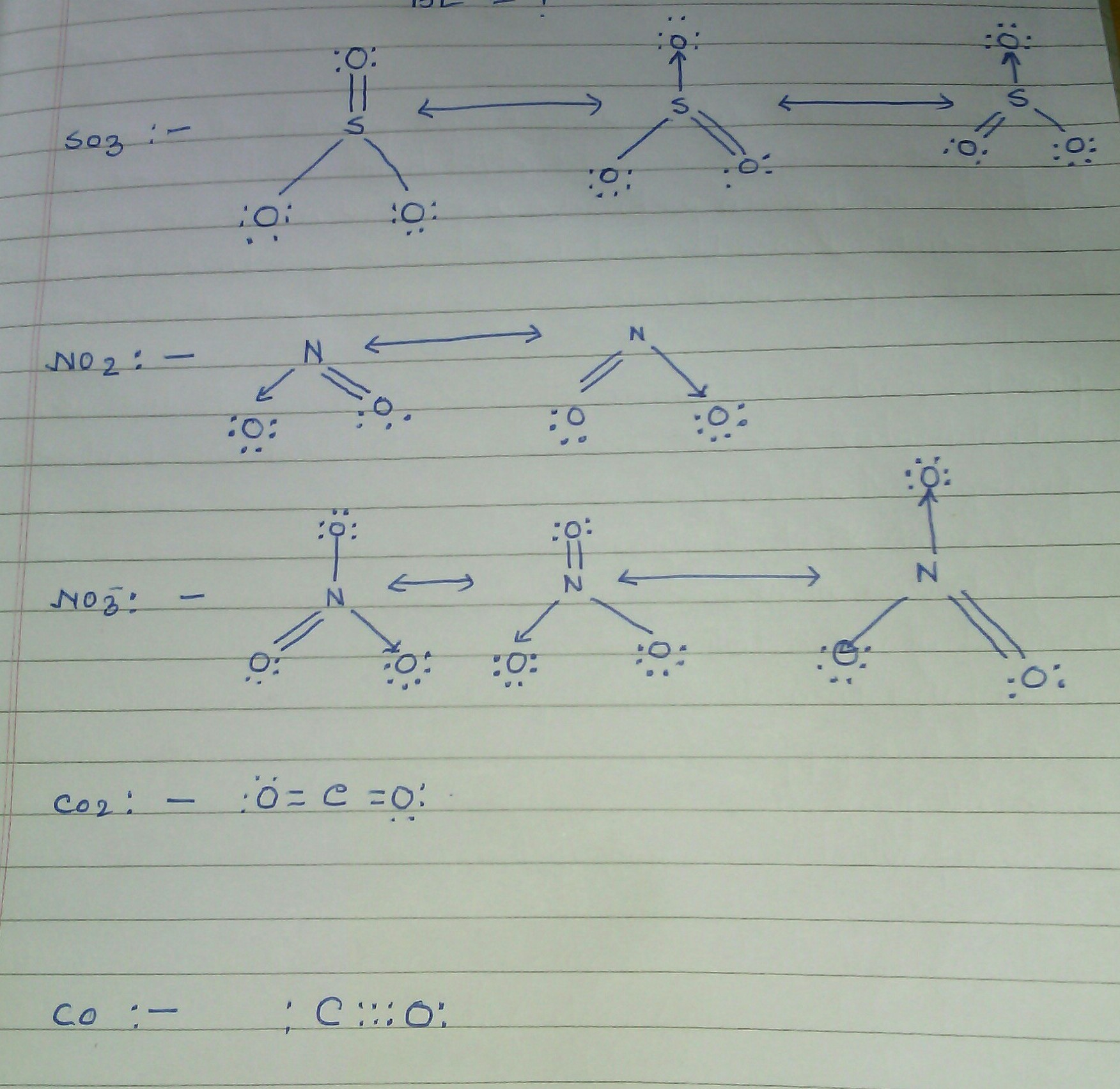 Draw Lewis Structures For No2 And No2