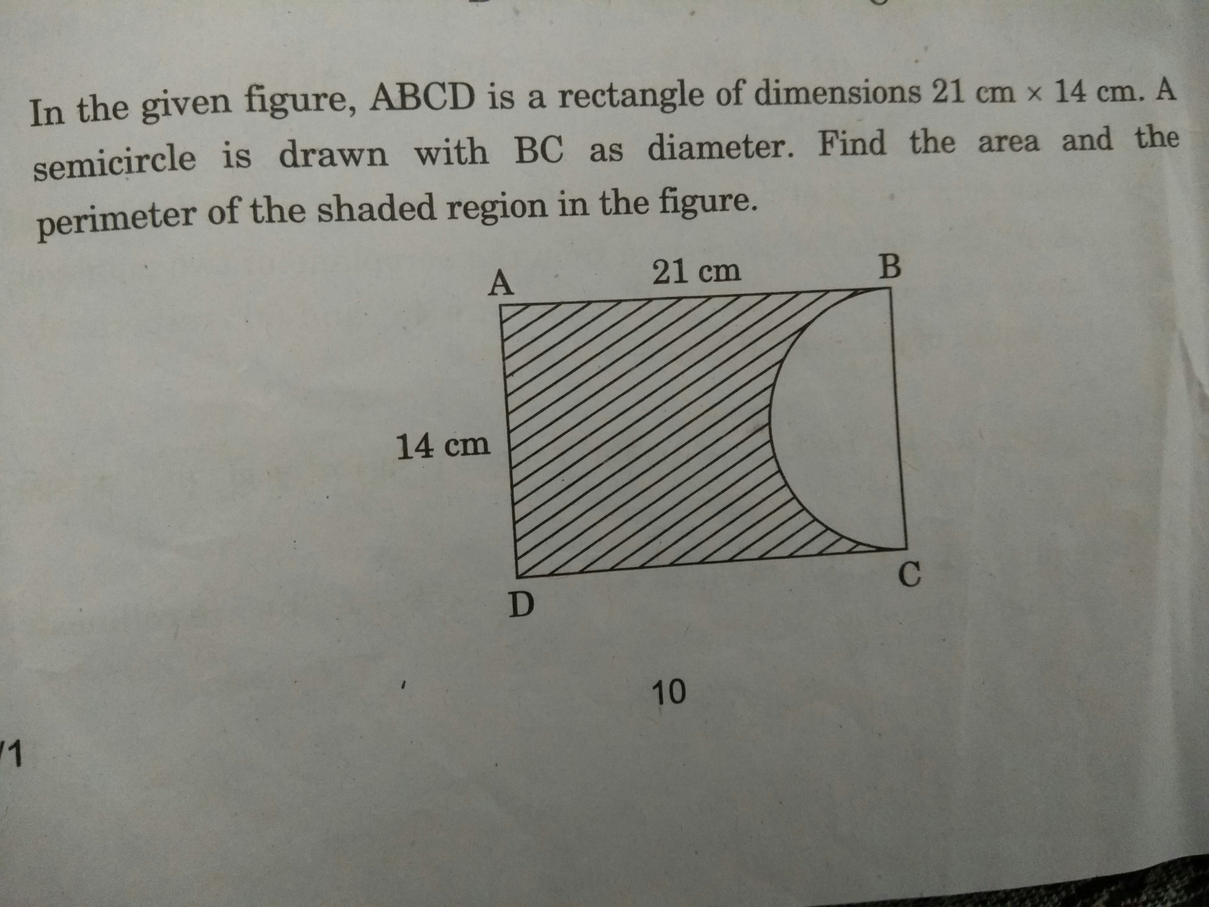 Ln The Given Figure Abcd Is The Rectangle Of Dimensions 21