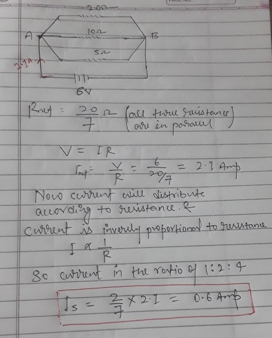Calculate the current flowing through the 1-ohm resistor