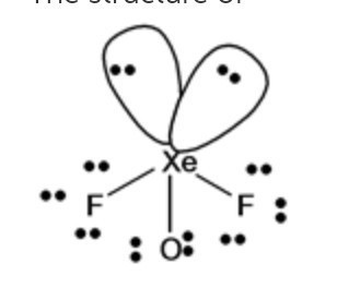 Draw the structures of XeO3 and XeOF2 on the basis of
