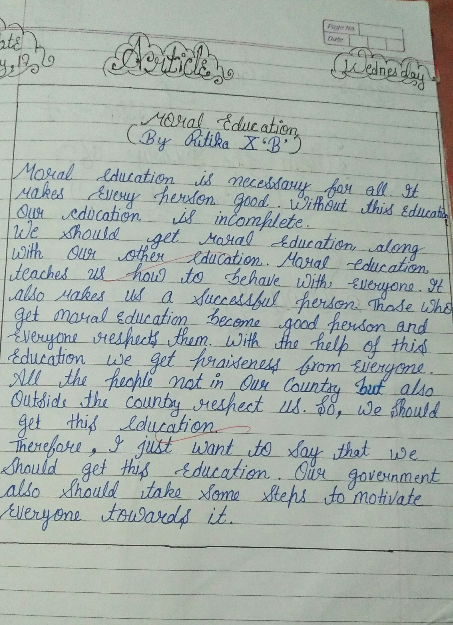 Example Of Writing Articles In English Grammar