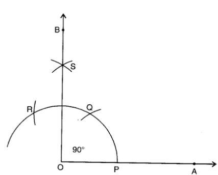 how we construct the 90 degree angle
