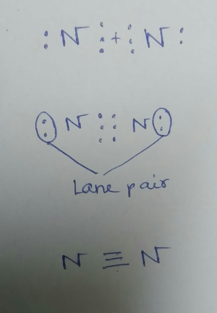 electron dot diagram for n2 aluminum data wiring blog structure of molecule n 7 brainly in nitrogen