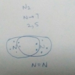 Electron Dot Diagram For N2 How To Wire A Light Switch Structure Of Nitrogen Molecule Brainly In Download Jpg