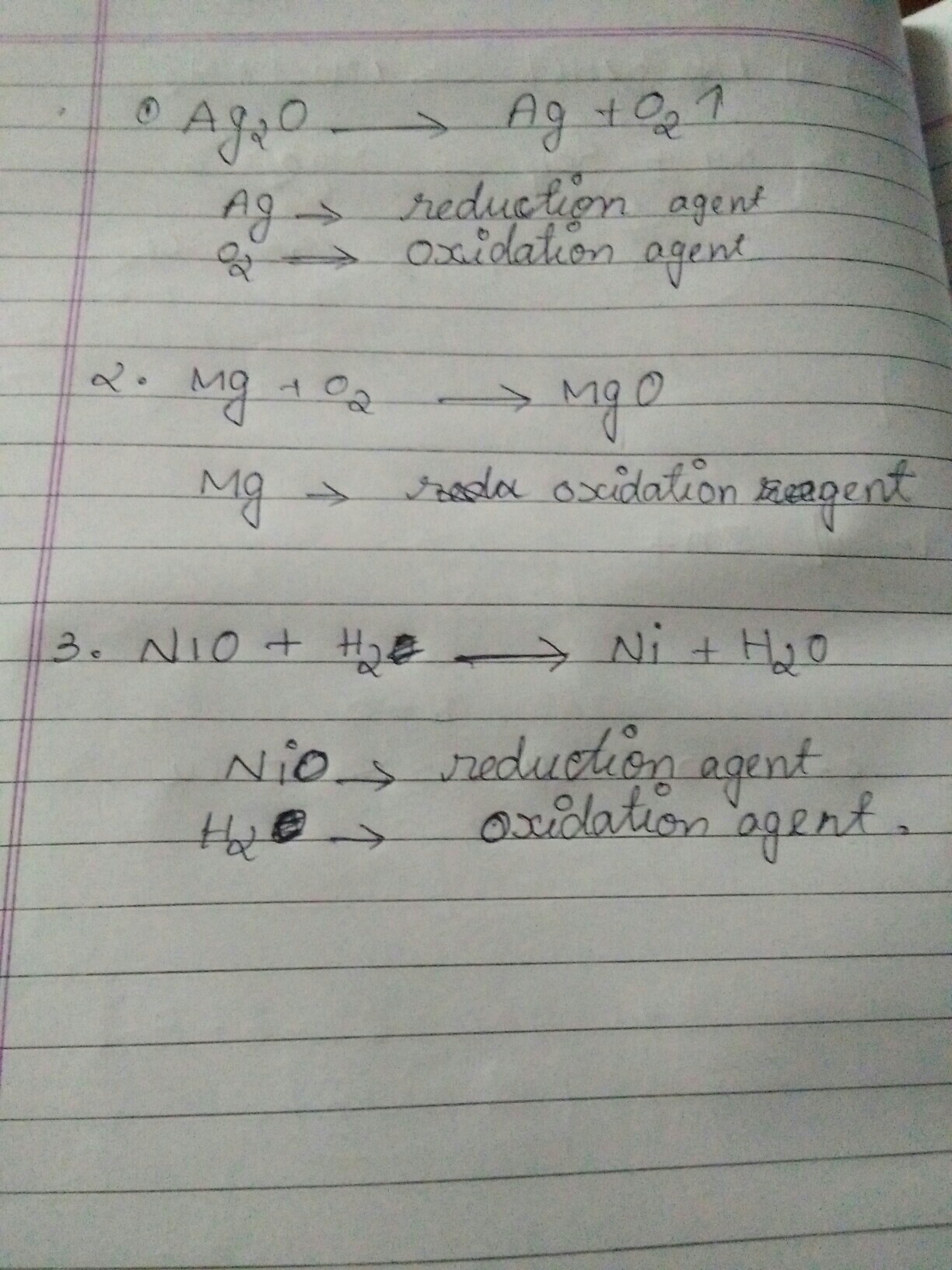 Identify From The Following Reactions The Reactants That