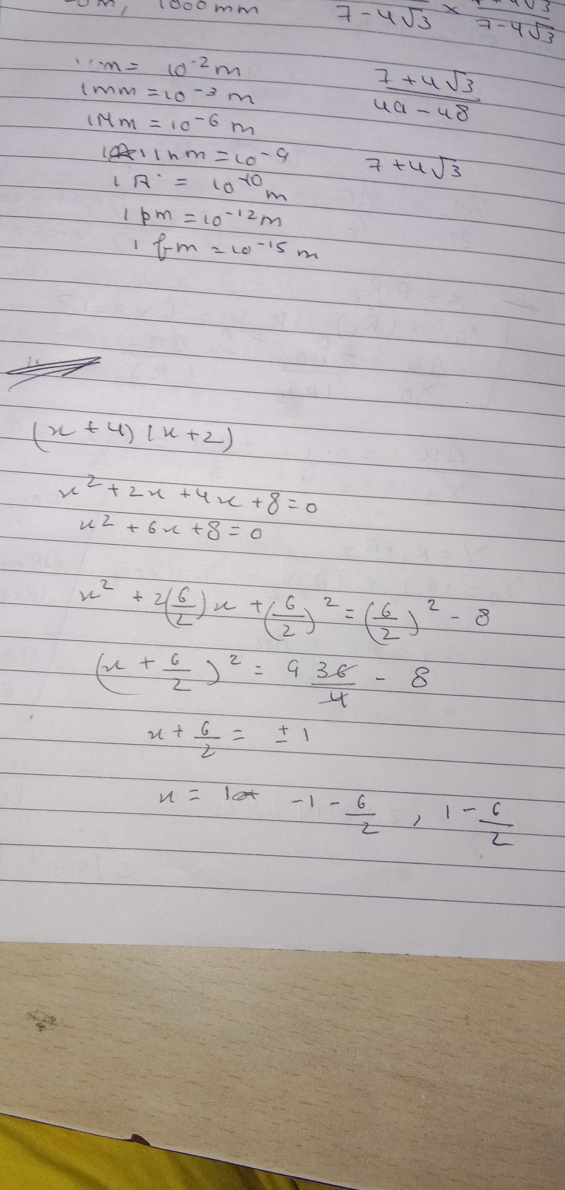 Complete The Equation By Completing The Square Method X 4