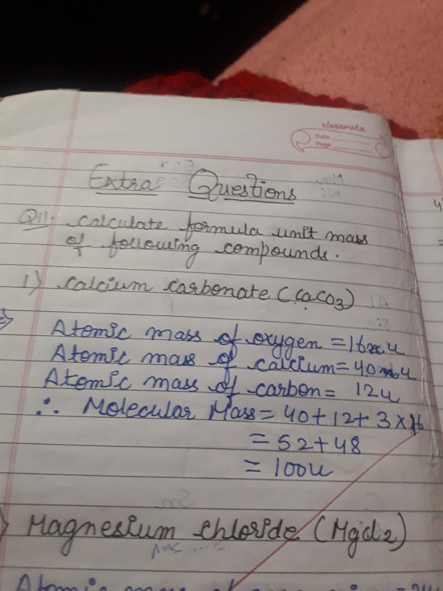Calculate The Formula Unit Mass Of Caco3