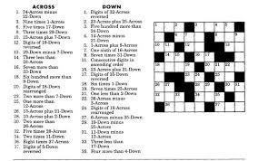 Maths Crossword Puzzles With Answers For Class 9 With