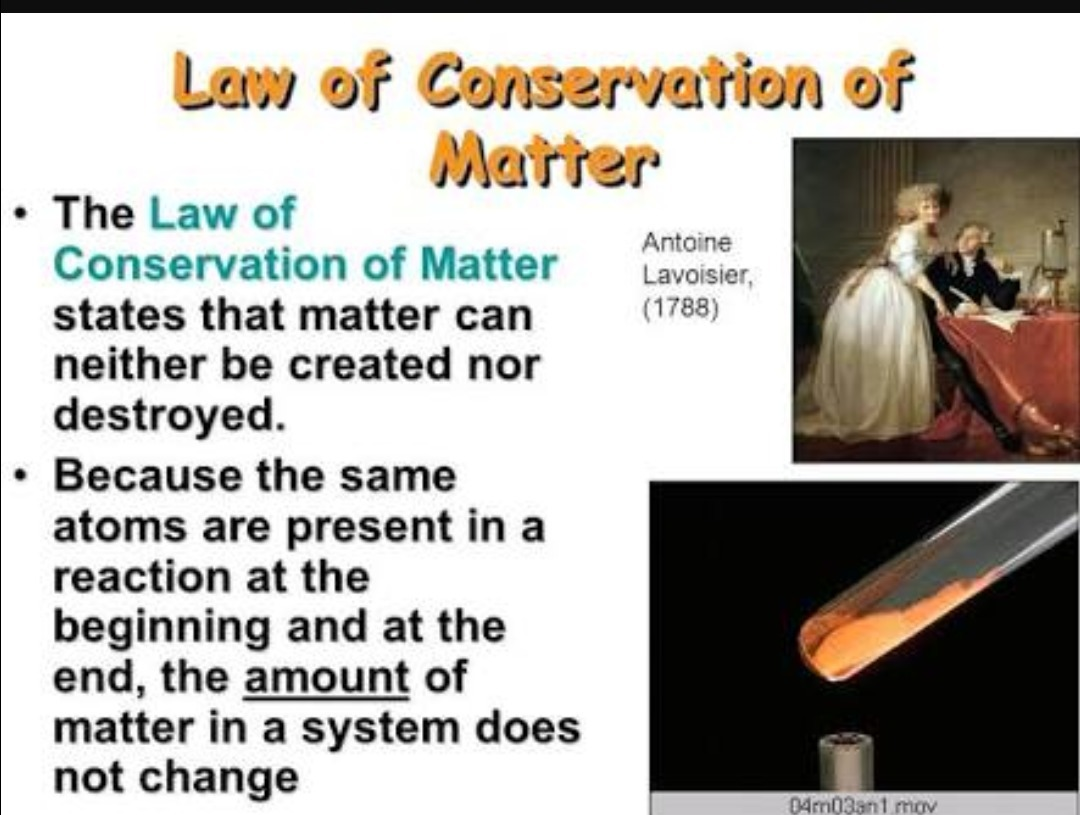Define The Law Of Conservation Of Matter