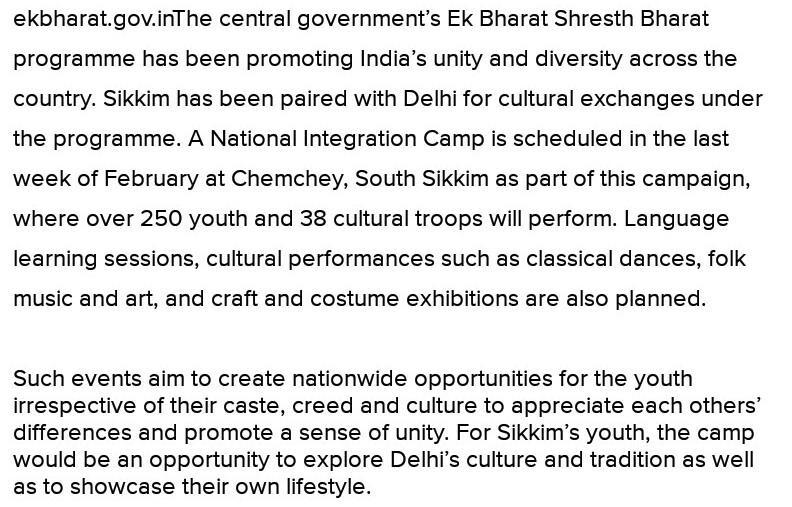 Essay on art and culture unifies us Delhi and Sikkim 500