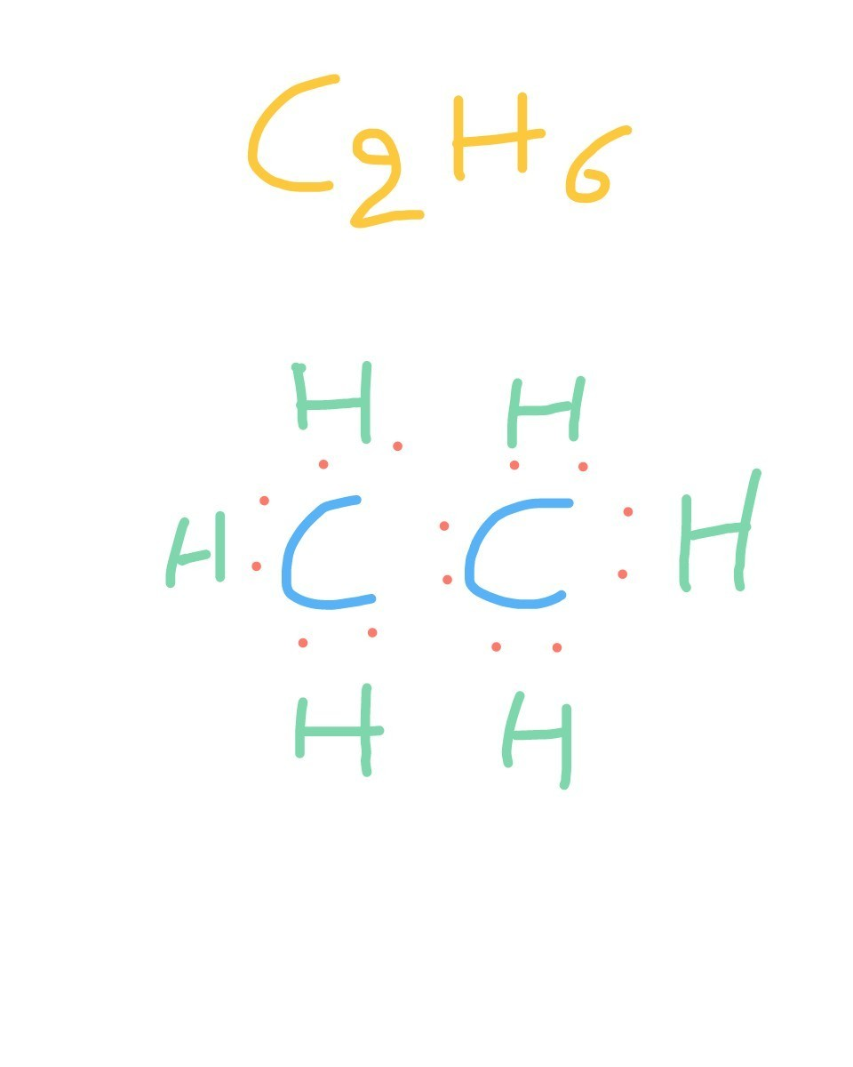 medium resolution of the electronic dot structure of ehyene is c2h4 download jpg
