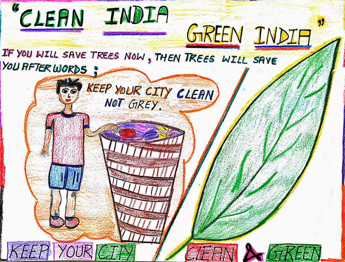Poster Making For Swachh Bharat Triotechnoblog