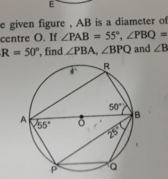 ab is a diameter of a circle with centre o if angle pab 55 angle [ 2032 x 986 Pixel ]