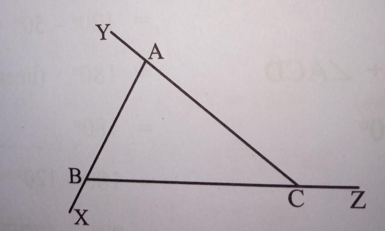 In Abc Name All The Interior And Exterior Angles Of The
