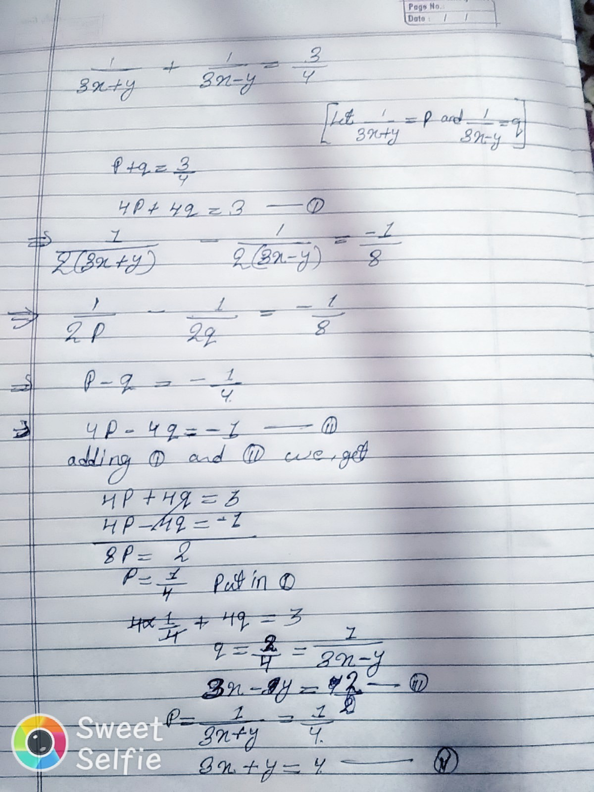 How To Solve The Equation 2 3x X 8