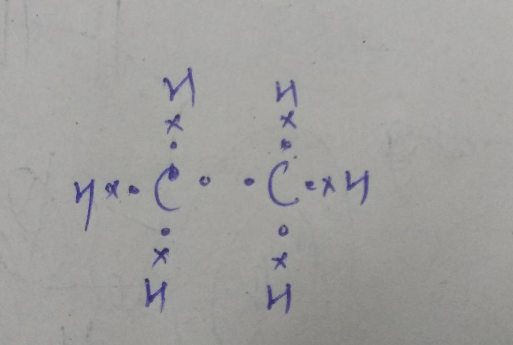 medium resolution of molecular formula is c2h6 electron dot structure is in the attachment