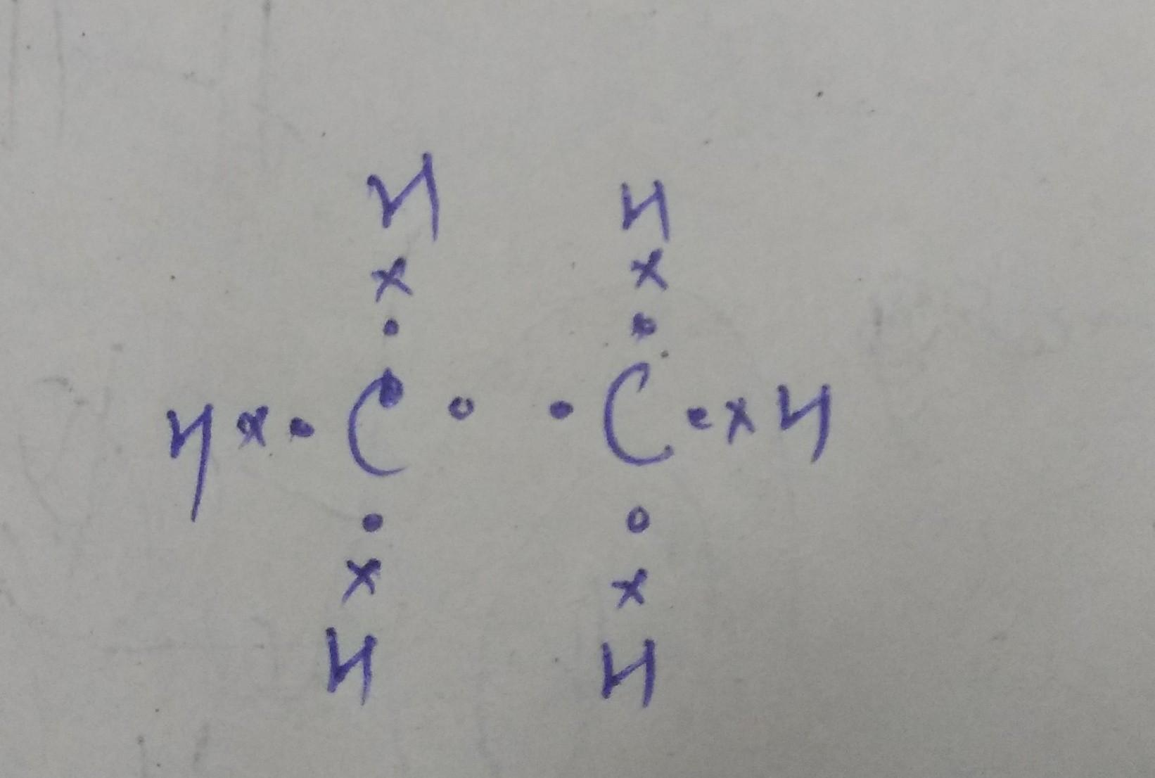 hight resolution of molecular formula is c2h6 electron dot structure is in the attachment