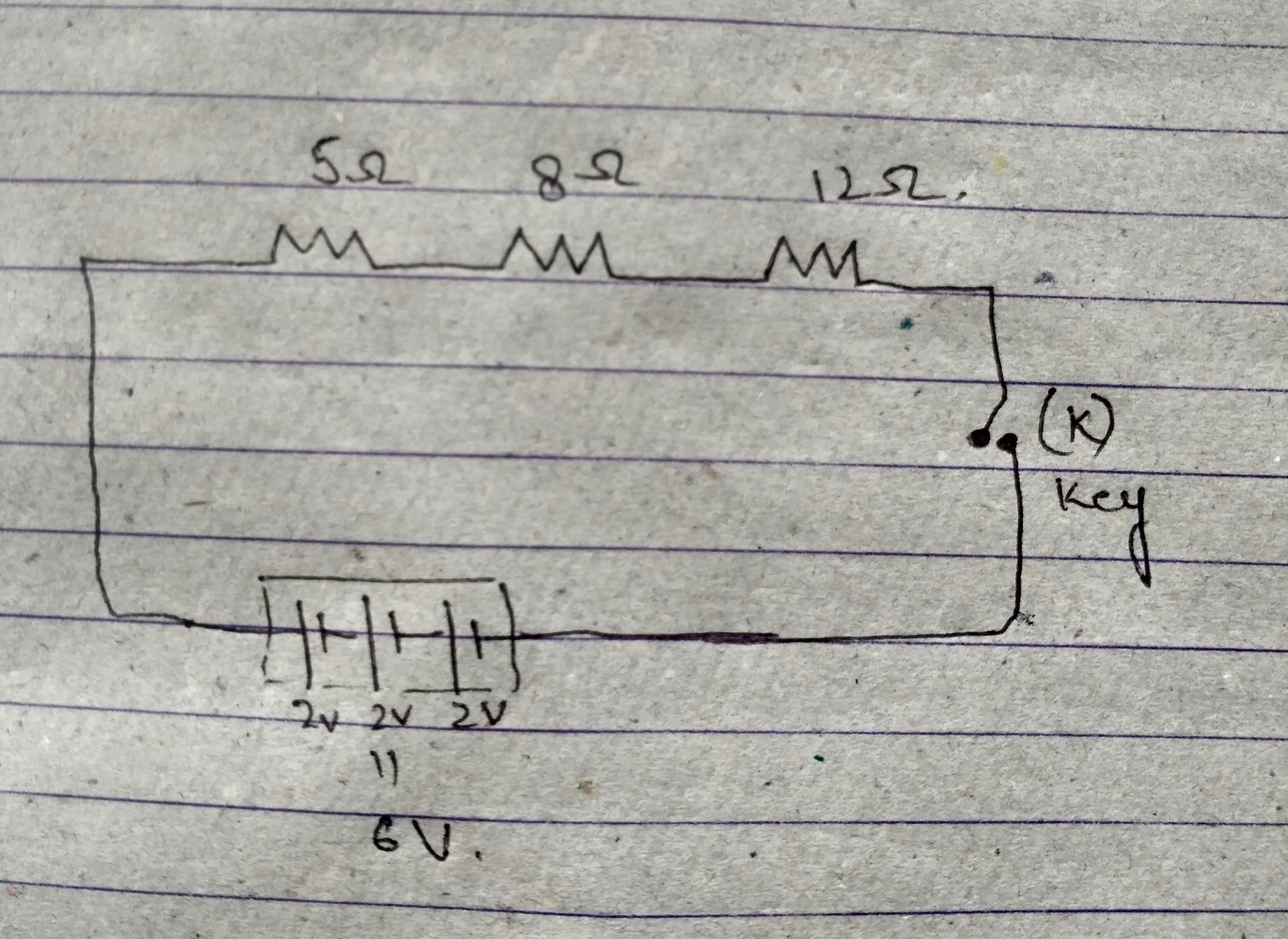 Draw A Schematic Diagram Of A Circuit Consisting Of A