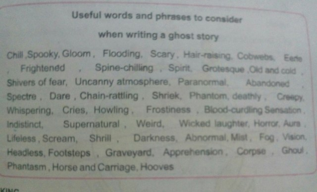 write a story on topic ghost - Brainly.in