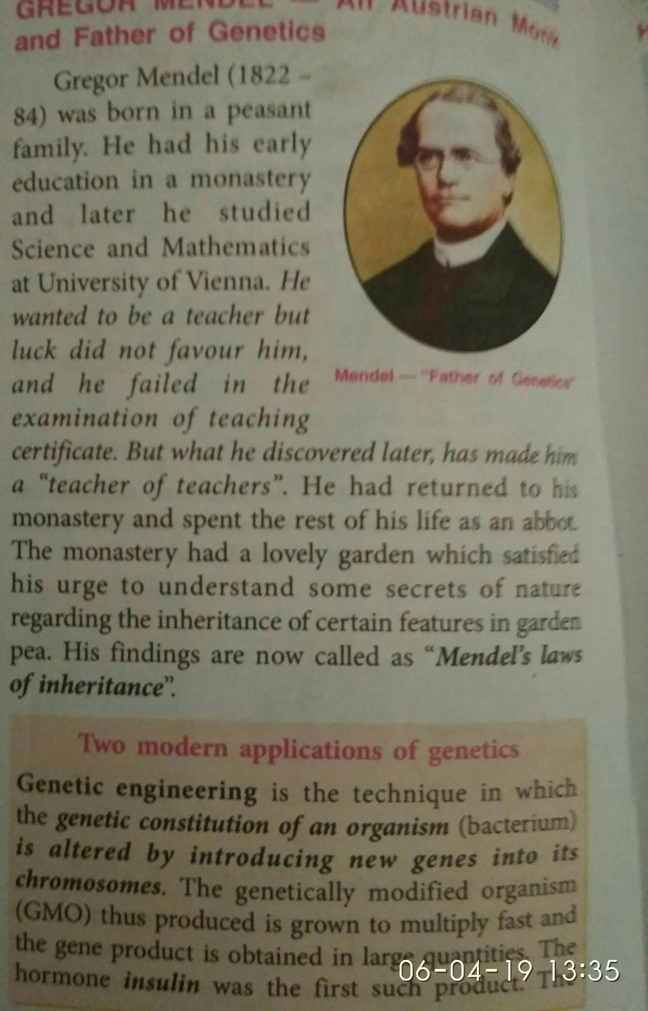 What Was Gregor Mendel S Experiment With Pea Plants