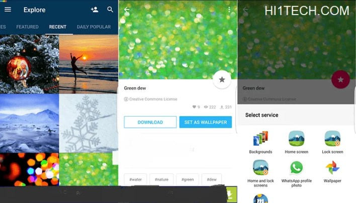 برنامج Backgrounds HD (Wallpapers) للخلفيات