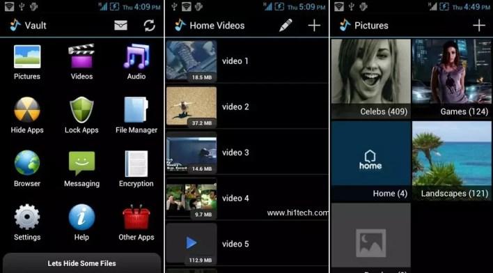 تطبيق إخفاء الصور والبرامج والفيديوهات Hide It Pro