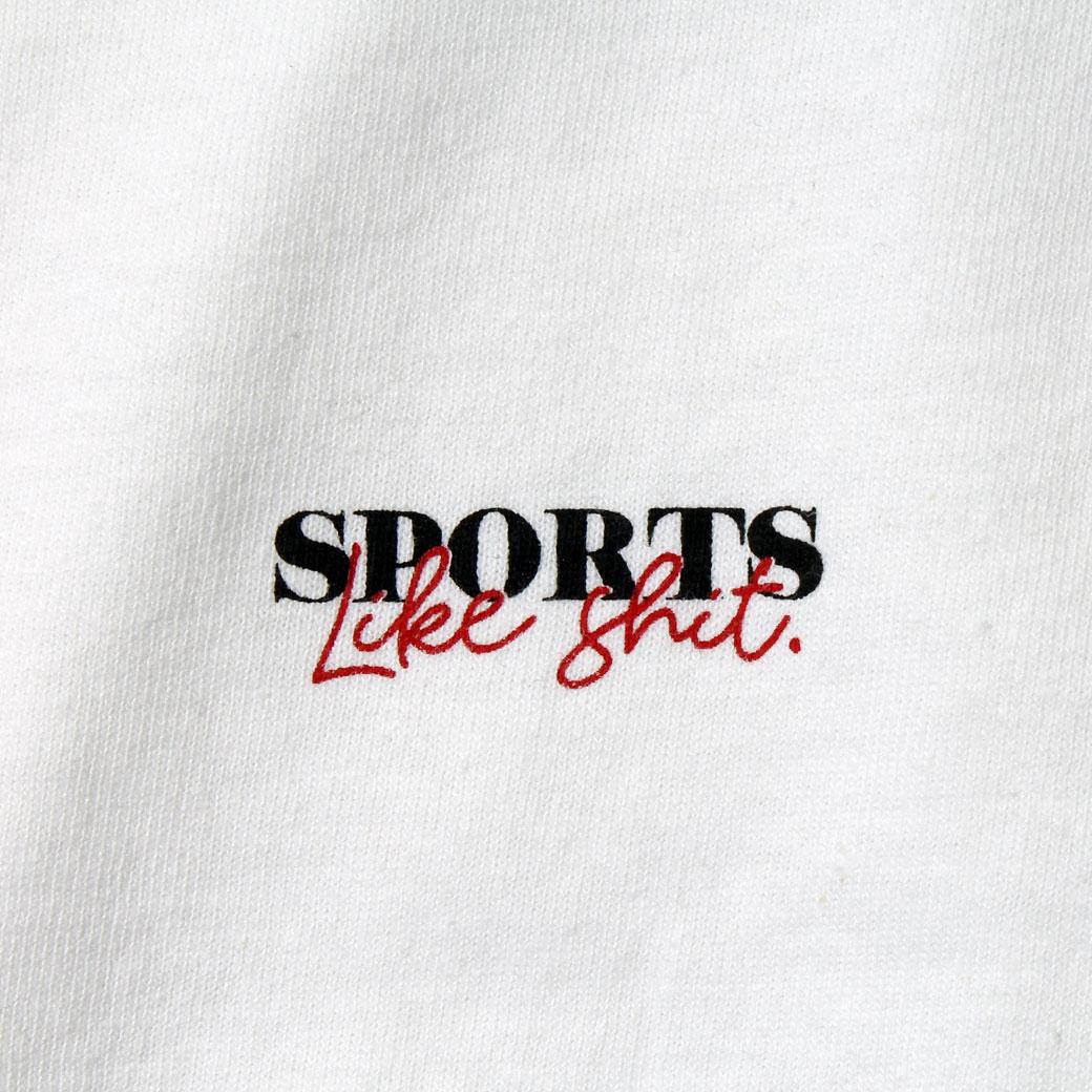 Hi5 オリジナル Tシャツ SPORTS LIKE SHIT ホワイト