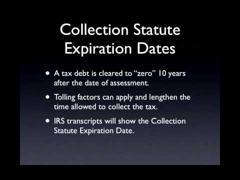 Tax Attorney Explains Irs Collection Statute Of