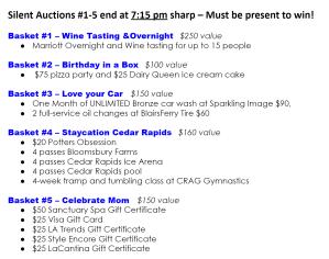 Silent Auction 1-5