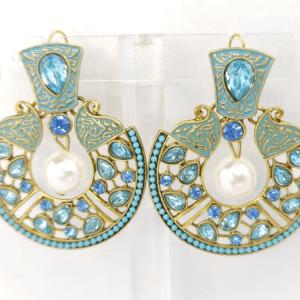 Ferozi Zircon Earrings Design with Price in Pakistan 2021