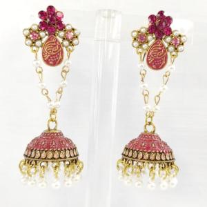 Pink Jhumkas Earrings design with Price in Pakistan 2021