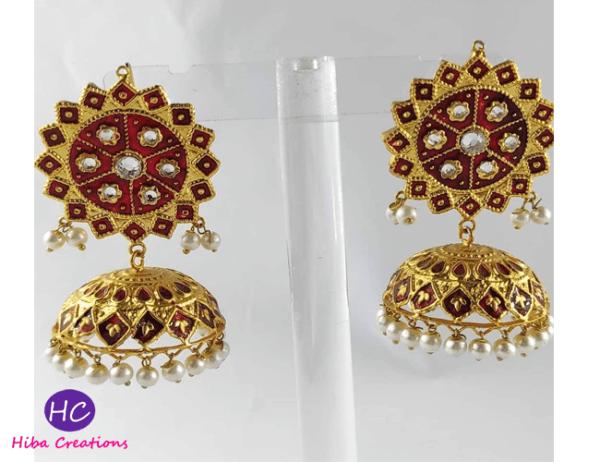 Meenakari Earrings Design with Price in Pakistan 2021 Online