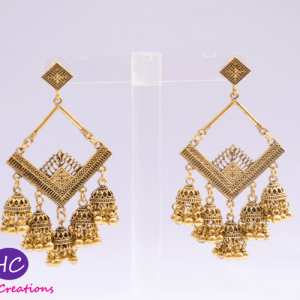 Golden Oxidised Earrings Design with Price in Pakistan 2021