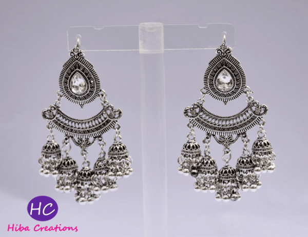 silver oxidised earrings design with Price in Pakistan 2021 Online