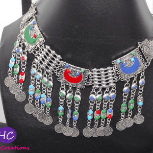 Afghani Coins Choker Set with Earrings Design with Price in Pakistan 2021 Online