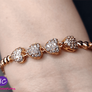 Heart Shape gold plated bracelet price in pakistan 2021 Online