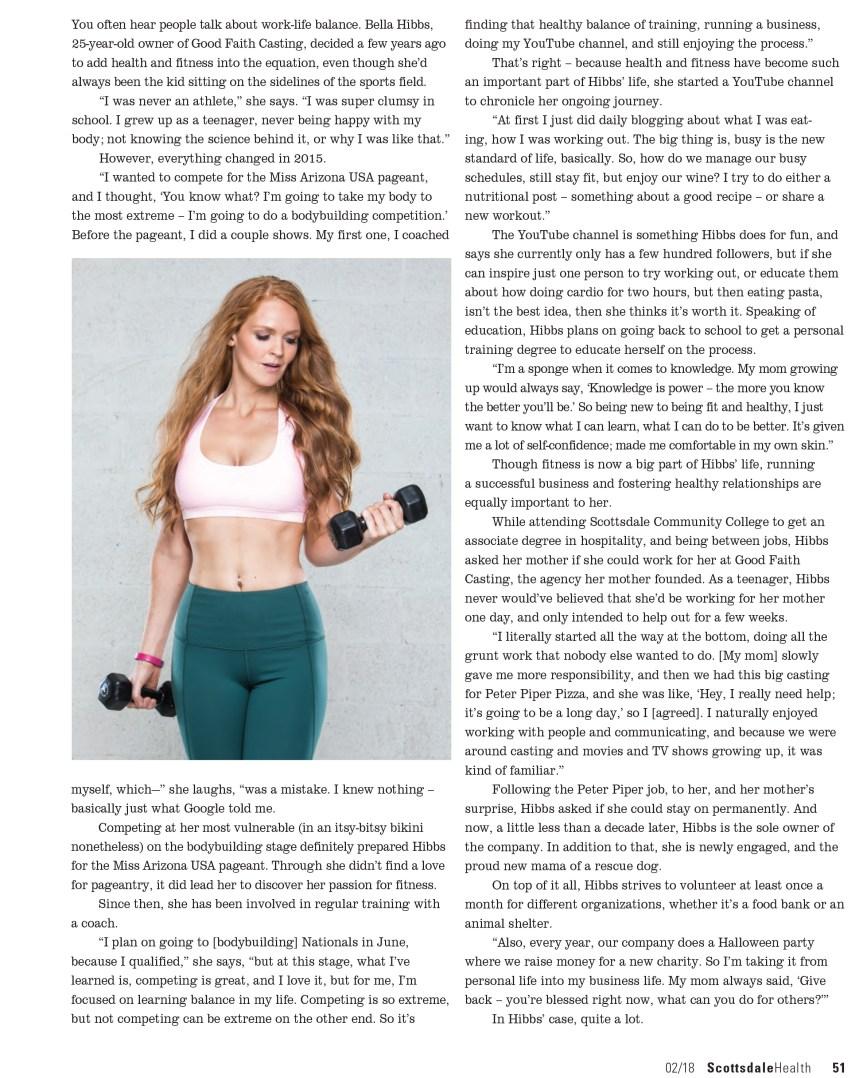 Bella Hibbs Fitness and Lifestyle Blogger Arizona Article