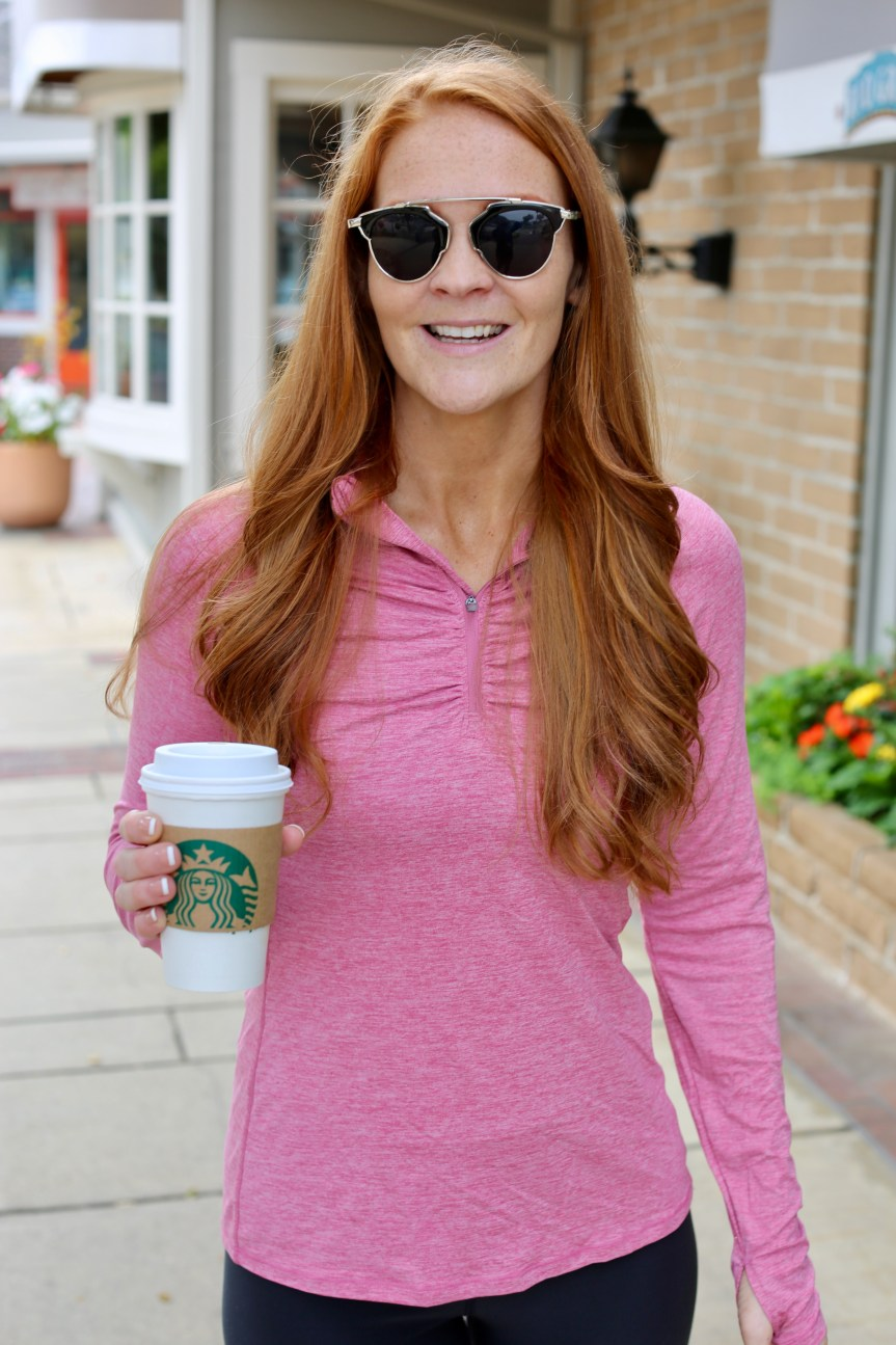 fitness blogger who loves starbucks