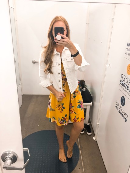 Old Navy Summer 2019 try on session Yellow dress with jacket