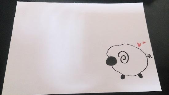 手書きの羊3