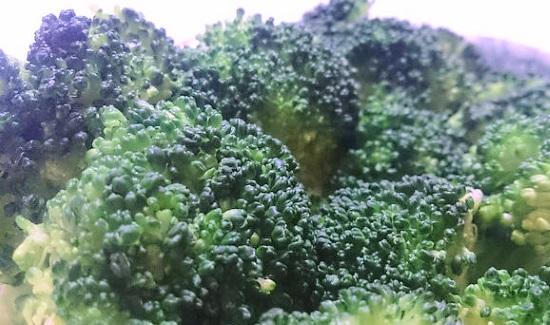レンジで茹でたブロッコリーアップ