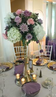 chandelier fleuri or
