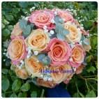 bouquet de mariée rose et pêche