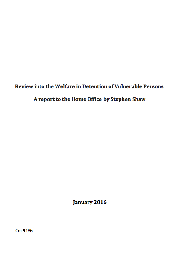 Review into the welfare in detention of vulnerable persons