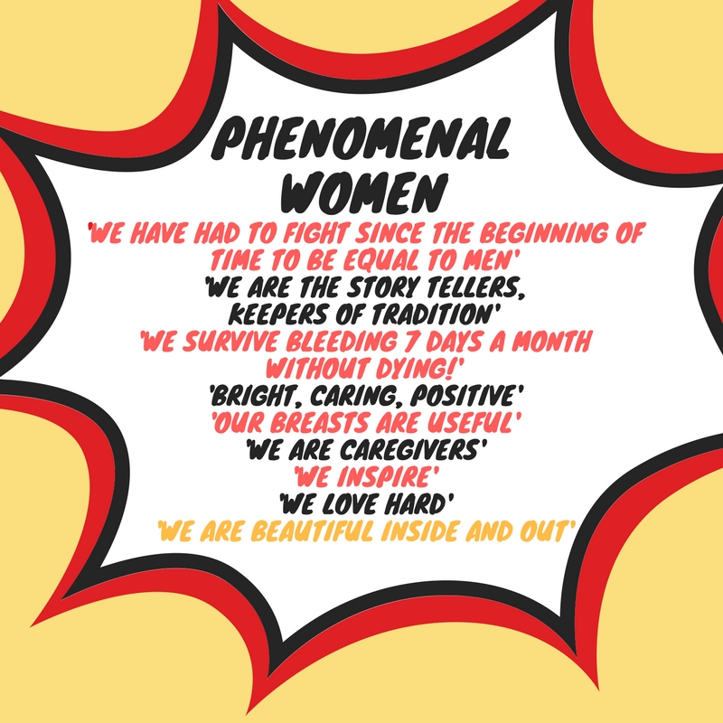 'Phenomenal Women' workshops in HMP Downview and HMP Peterborough